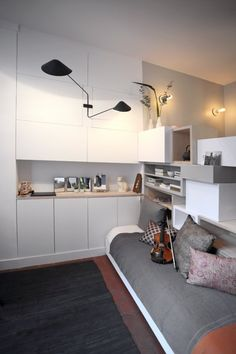 129 sf micro apartment studio in paris 0010 600x900   Woman Goes Tiny in a 129 Sq. Ft. Micro Apartment