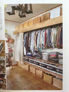 取り出しやすく、どの服がどこにあるのか分かりやすい収納。 スマートに、そしてひとりで手軽にできる収納術