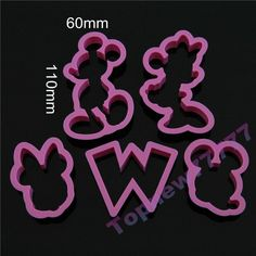 5pcs/set Mickey Mouse Cookie Cutters