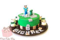 Minecraft Birthday Cake for Michael's Birthday