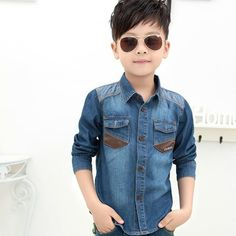 Cheap shirts for boys, Buy Quality boys jean shirt directly from China cotton shirt for boy Suppliers: 2017 Spring Boys Jean Shirts Fashion Unique Kids Denim Cowboy Clothes Long Sleeve Cotton Casual Wear Shirts For Boys For Sports Boys Jeans Shirt, Super Hero Outfits, Cowboy Outfits, Cheap Shirts, Collar Styles, Mens Clothing Styles, Kids Wear, Unique Fashion, Spring