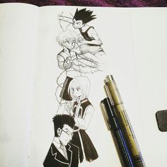 A HxH scribble that I turned into a pencil afterward. Check out the complete product at StarschArt.storenvy.com !