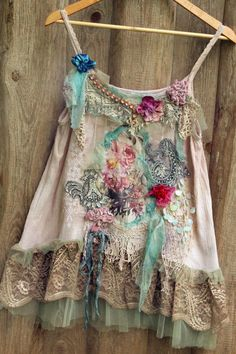 Baroque summer top--  size M/L-- whimsy bohemian top, antique laces, printed silk, reworked by FleursBoheme on Etsy https://www.etsy.com/au/listing/527013152/baroque-summer-top-size-ml-whimsy