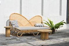 Discover the 2020 Launch Pad Design Studios, Presented by WantedDesign Manhattan - Design Milk Rattan Furniture, Furniture Design, Outdoor Furniture, Outdoor Sofa, Outdoor Decor, Launch Pad, Pad Design, Sun Lounger, Home Accessories