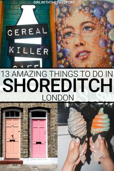 The London neighborhood of Shoreditch is a hipster, chic place that is filled with vibrant street art, amazing street food, killer vintage markets, and charming historic buildings. So check what to do in Shoredttch and discover the 13 most amazing and fun things to do in Shoreditch. #TravelLondon #LondonGuide #LondonShoreditch #LondonNeighborhood