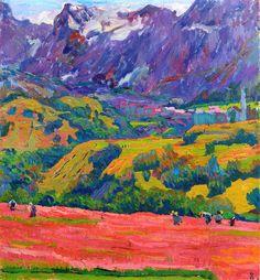 Spring in Bergell-Giovanni Giacometti - 1912