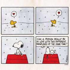 Woodstock and Snoopy. Love ❤️ affairs with snowflakes. Snoopy Comics, Snoopy Cartoon, Peanuts Cartoon, Peanuts Snoopy, Peanuts Comics, Happy Comics, Life Comics, Cartoon Pics, Teen Titans Raven