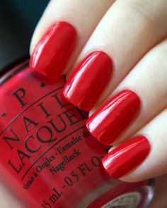 OPI 'Color So Hot It Berns'. I currently have this on. Love! Opi Gel Nails, Opi Nail Colors, Pedicure Colors, Pedicure Nail Art, Opi Nail Polish, Pedicure Ideas, Nail Polishes, Mani Pedi, Nail Ideas