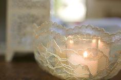 lace tea light holders