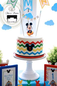 Mickey Mouse Clubhouse Themed Birthday Party via Kara's Party Ideas KarasPartyIdeas.com The Place for ALL Things Party! #mickeymouse #mickeymouseparty #mickeymouseclubhouse #mickeyandminniemouse #mickeymousecake #karaspartyideas (3)