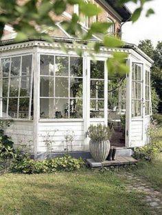 Brick house with solarium,