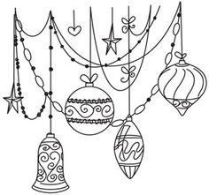 Draping Ornaments | Urban Threads: Unique and Awesome Embroidery Designs