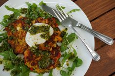 sprouted chickpea fritters