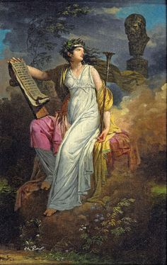 Charles Meynier Calliope Muse Of Epic Poetry 1790s Muse Art My