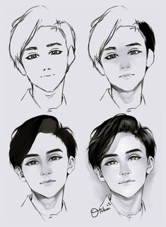 Face Drawing Drawing-Tutorial-for-Occasional-Artists - While there are tons of things out there to draw, it is not simple always. However, these Drawing Tutorial for Occasional Artists will help you out. Digital Painting Tutorials, Digital Art Tutorial, Art Tutorials, Digital Paintings, Drawing Faces, Manga Drawing, Shading Drawing, Boy Hair Drawing, Realistic Hair Drawing