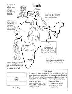 Free Printable Maps of India | Location : India is a large ...