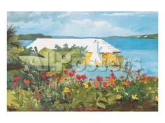 Flower Garden and Bungalow, Bermuda, c.1899 by Winslow Homer Landscapes Premium Giclee Print - 30 x 23 cm