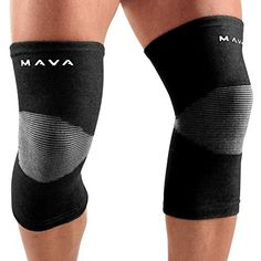 290afcefa5 Mava Sports Knee Support Sleeves (Pair) for Joint Pain and Arthritis Relief,  Improved Circulation Compression – Effective Support for Running, ...