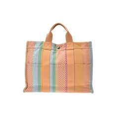 2b805118ff4 HERMES FOURTO MM Multicolor Madison Store Limited Ladies Mens Canvas Tote Bag  AB Rank
