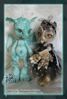 Singe the Dragon and Hoot by TheMushroomPeddler on deviantART