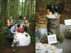 I think I'd go a bit more fairy tale & less backwoods, but this is cute: Preppy Lodge Wedding Inspiration on http://ruffledblog.com