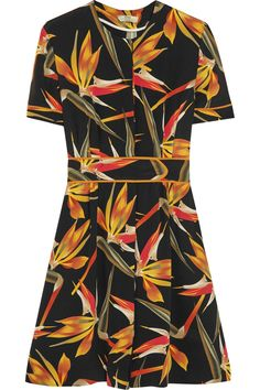 FENDI Bird Of Paradise printed silk-cady mini dress  $1,990.00 https://www.net-a-porter.com/product/638119