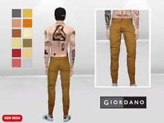 McLayneSims' Honey Apple Chino Crumple Jeans