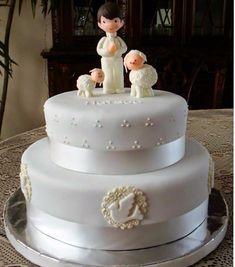 Resultado de imagen para torta de comunion para varon