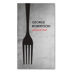BIG FORK LOGO III for Chef, Catering, Restaurant Double-Sided Standard Business Cards (Pack Of 100)