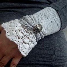 Transform socks into wrist warmers.
