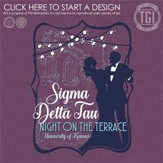 Sigma Delta Tau | ΣΔT | Formal | Formal Shirt | Night on the Terrace | TGI Greek | Greek Apparel | Custom Apparel | Sorority Tee Shirts | Sorority T-shirts | Custom T-Shirts