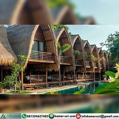 It is really attractive what these folks did with this particular structure and plan. What an amazing idea for a Bamboo Architecture, Tropical Architecture, Hut House, Dome House, Camping Am Meer, Ideas Cabaña, Resorts In Philippines, Bungalow Resorts, Bamboo House Design