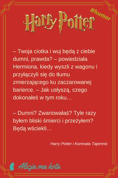 Harry Potter i Komnata Tajemnic - najlepsze fragmenty, najzabawniejsze cytaty | Dursleyowie #HarryPotter #cytat #cytaty #książki Harry Potter Mems, Harry Potter Quotes, Harry Potter Fandom, Jily, Wolfstar, Wtf Funny, Ron Weasley, Hogwarts, Thoughts