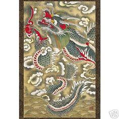 Tenture-Tableau-Poster-Art-Asiatique-Histoire-Coree-Collection-Minhwa-DRAGON