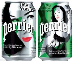 Perrier Dita-Von-Teese Ooh la, la #packaging PD