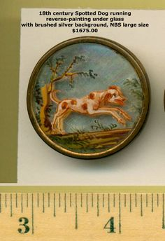 18th century spotted dog running button.