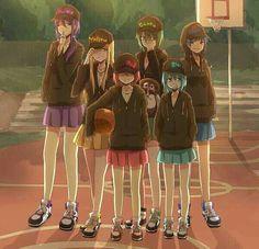 kuroko no basket genderbend - Kuroko Tetsuyam Akashi Seijuro, Midorima Shintaro, Aomine Daiki, Kise Ryouta, Murasakibara atsushi