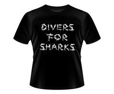 These T.shirts help us save the oceans, sharks and rays all over the world!    Check the on line store here: http://www.vitrinepix.com.br/D4S    Ajude o projeto Divers for Sharks, comprando uma destas camisetas! Visite a loja on line no link acima. Os oceanos, tubarões, raias e cações agradecem!