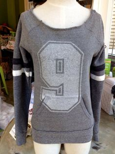 Fleurty Girl - Everything New Orleans - Number 9 Maniac Pullover Sweatshirt $58