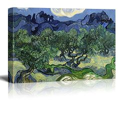 Wall26® - Olive Trees by Vincent Van Gogh - Oil Painting ...