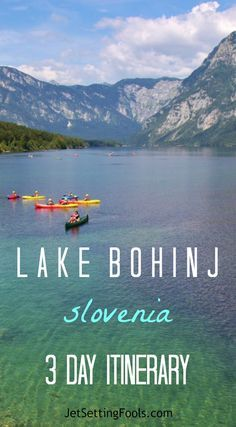 Lake Bohinj, Slovenia 3 Day Itinerary: Lake Bohinj is a postcard-picture scene, naturally designed in in hues of unbelievable blues and shades of intense green. Cradled in the Julian Alps, the glacial lake is watched over by the mountain peaks that rise around it and is protected within the boundaries of Triglav National Park.