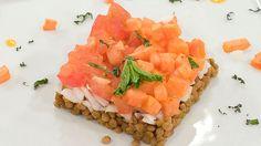 Saber cocinar - Ensalada de lentejas con vinagreta de papaya