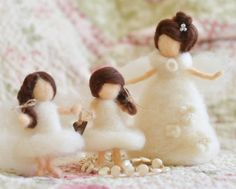 ANGELS Needle Felted Angels Family of Angels by thefeltedcottage, $80.00  ANGELS AMONG US♥ Cynthia Foust Wolfe design.