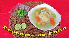 Receta fácil de preparar, de un delicioso Consomé de pollo. Mira el video: https://youtu.be/3Yb2J0xeFBc