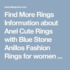 Find More Rings Information about Anel Cute Rings with Blue Stone Anillos Fashion Rings for women Rhinestone Silver Ring Engagement Gifts CZ Diamond Jewelry Y2722,High Quality topaz pendant,China topaz ring Suppliers, Cheap topaz toys from D&C Fashion Jewelry Buy to Get a Free Gift on Aliexpress.com