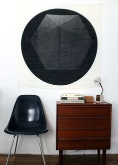 "Design*Sponge feature on ""scarf art"" but I love the furniture it's styled with even more!"