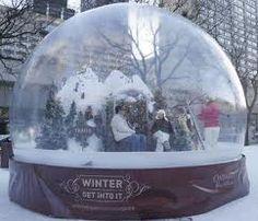world's largest snow globe