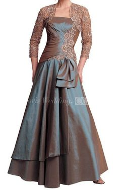 Strapless A-line Taffeta Gown With Matching Jacket