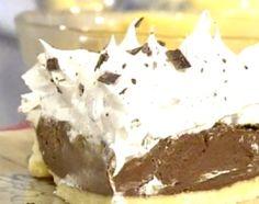 Tarta de crema pastelera de chocolate