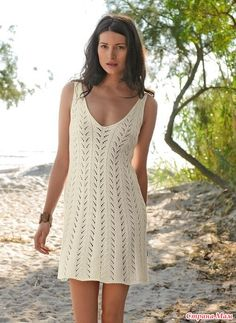 Девочки, всем приветик! Приглашаю всех желающих связать со мной вот такое платье Вяжу платье для себя, размер 42. Для удобства предлагаю общение на ты